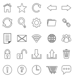 Tool bar line icons on white background vector