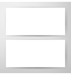 Two Horizontal Banners Mockup vector image