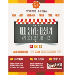Vintage retro page template for a variety of vector