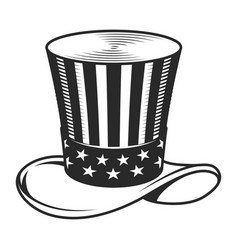 vintage uncle sam hat template vector image