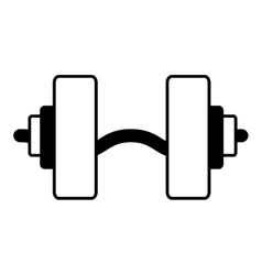 Weight equipment hard gym vector
