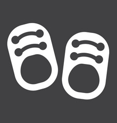 Baby shoes solid icon footwear and fashion vector