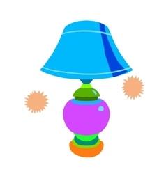 Cartoon lamp flat icon vector image vector image