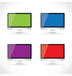 Display LCD screens vector image vector image