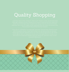 quality shopping advertisement poster with gold vector image
