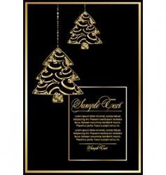 vector illustration with Christmas tree vector image vector image