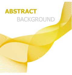 yellow line wave abstract background vector image vector image