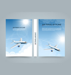 air travel by plane modern airplane banners vector image vector image