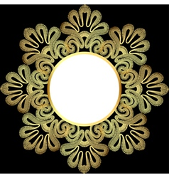 background with gold lace vector image vector image