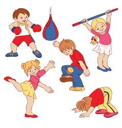 cartoon small children vector image vector image
