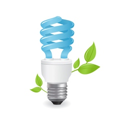 ecological lightbulbs vector image vector image