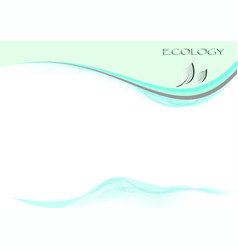 ecology page vector image