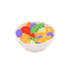 Fruit salad icon isometric 3d style vector image vector image