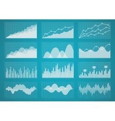 Graphs and charts set vector image vector image