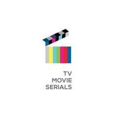 Logo for online TV movie serials vector image