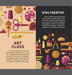 Creative art poster for kids diy projects vector