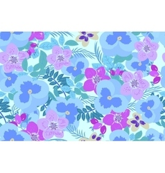Floral pansy rose background vector image