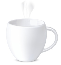 Mug isolated on white vector image vector image