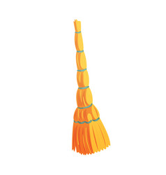 retro cleaning and dusting broom cartoon vector image