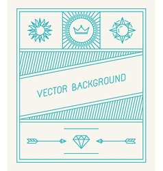 simple and geometric graphic design template vector image vector image