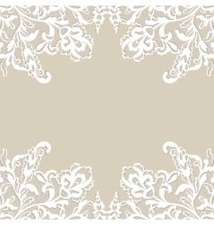 White flower frame vector image