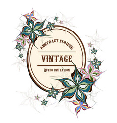 Abstract flower in vintage style vector