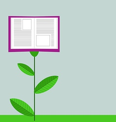 Concept of Growing Education Book Like Flower vector image vector image