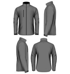 Men softshell jacket design template vector