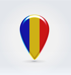 Romanian icon point for map vector image vector image