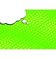 Speech Bubble on Pop Art Style Background vector image