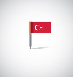 turkey flag pin vector image vector image