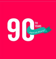 90 years anniversary template design vector