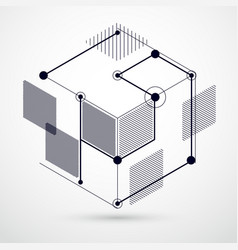 abstract black and white background created in vector image