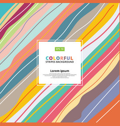 abstract colorful pastels diagonal striped vector image