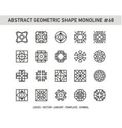 Abstract geometric shape monoline 68 vector