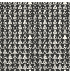 Abstract monochrome pattern of triangles vector image