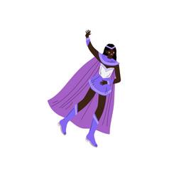 Beautiful african american woman in purple vector