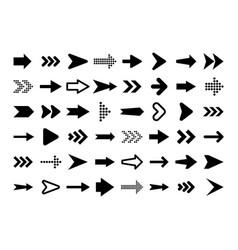 black arrows set on white background arrow vector image