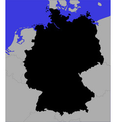 black map of germany vector image
