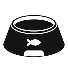 Bowl for animal icon simple style vector