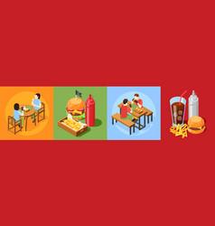 Burger house design concept vector