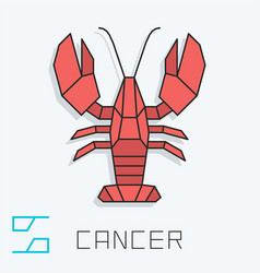 Cancer sign vector