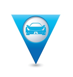 car BLUE triangular map pointer vector image