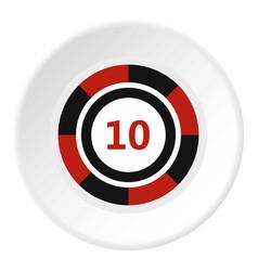 casino chip icon circle vector image