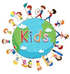 Children doing things around the world vector image