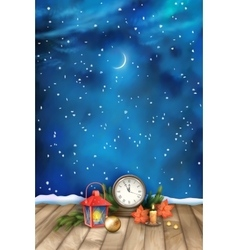 Christmas Night Watercolor Background vector