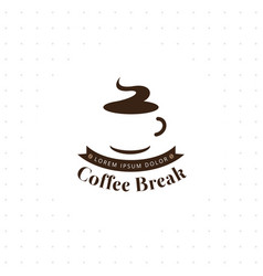 coffee break logo vector image