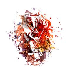 color of a hockey player vector image