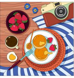 coloring breakfast background vector image
