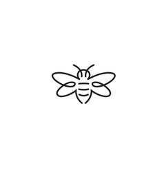 Creative abstract bee logo symbol vector